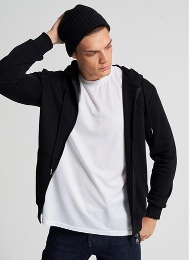 Pi π Kapüşonlu Fermuarlı Sweatshirt Siyah